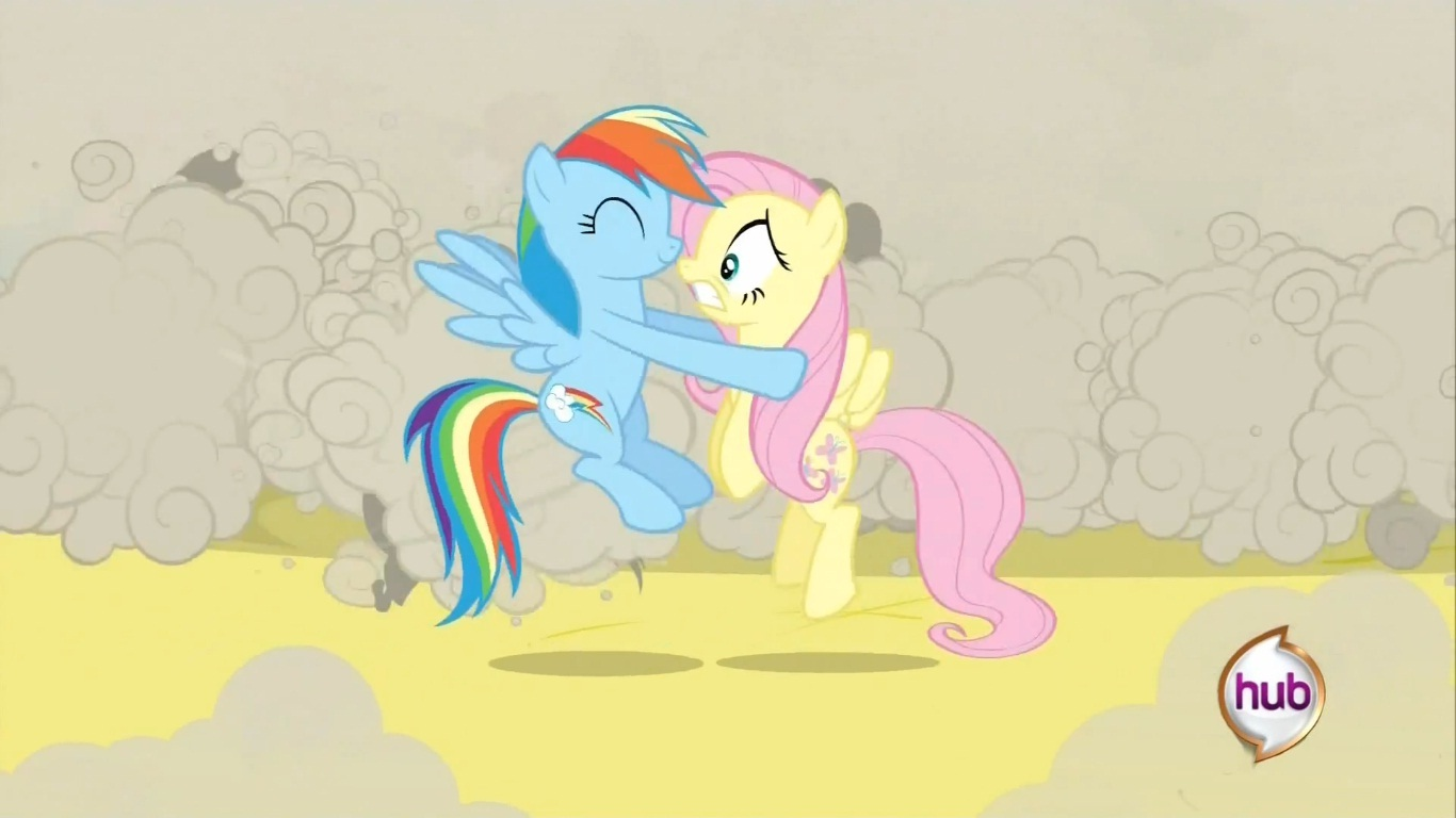 Rainbow Dash and Fluttershy kiss   My Little Pony ...