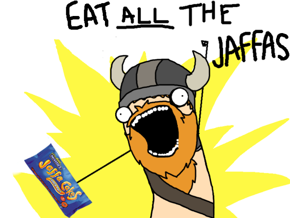 27d eat all the jaffas all the things know your meme