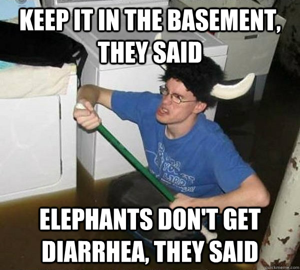 Elephants don't get diarrhea | It Will Be Fun, They Said | Know Your Meme