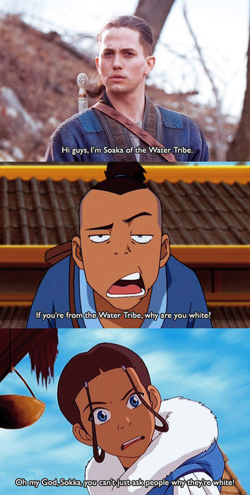 Why are you white?   Avatar: The Last Airbender / The ...