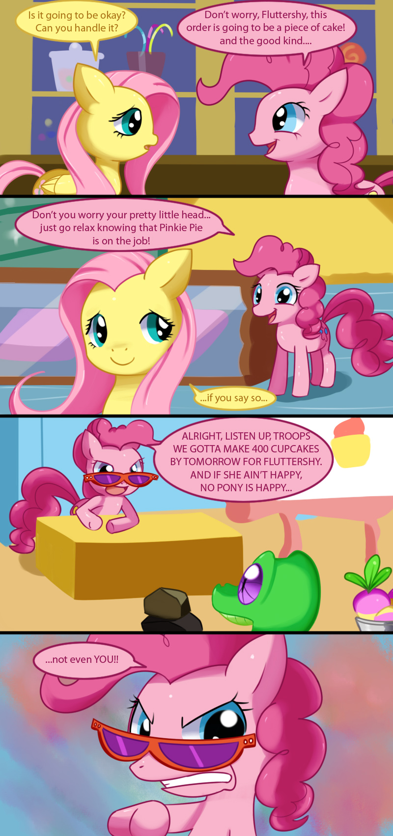 Determined Pinkie Pinkie Pie Breaking The 4th Wall