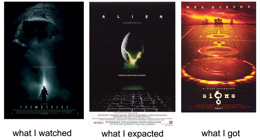 e85 movie = god \u003e alien what i watched what i expected what i