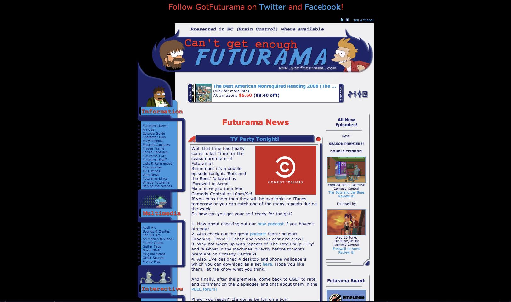 Can't Get Enough Futurama | Futurama