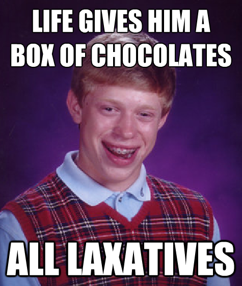 The Source of Brian's Shits! | Bad Luck Brian | Know Your Meme