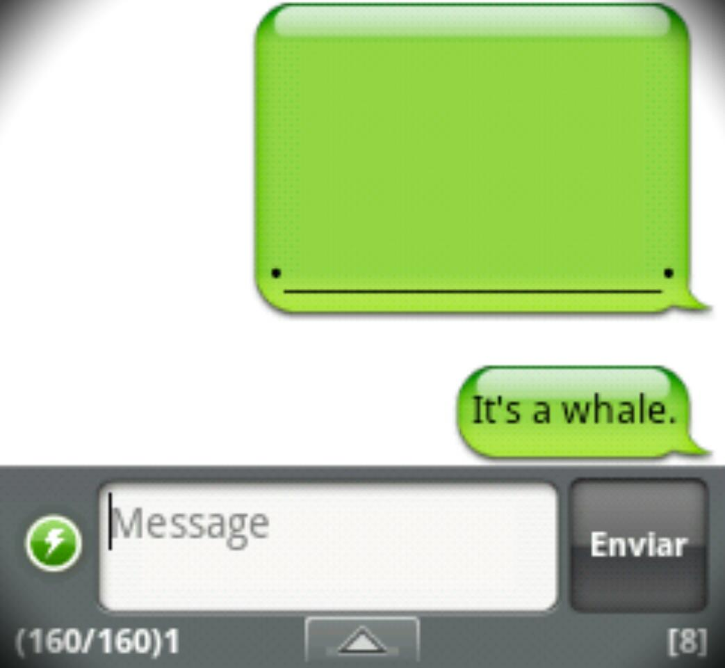 6b1 handcent sms for android whale iphone whale know your meme