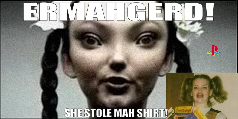 77e erhmahgerd playstation alien girl ermahgerd know your meme