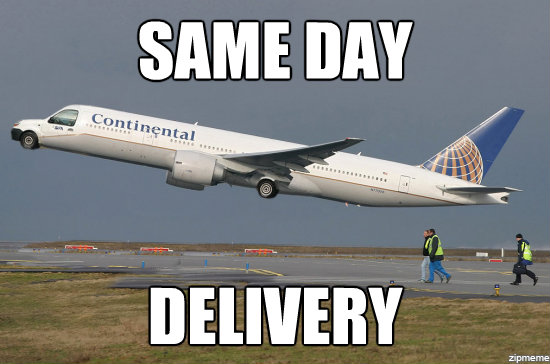 d0b same day delivery the functional airplane know your meme
