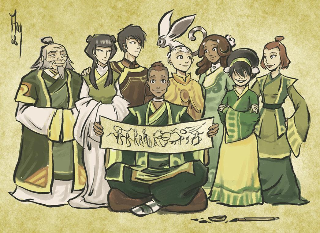 Avatar The Last Airbender Katara Sokka Aang Momo Zuko Cartoon Art Human