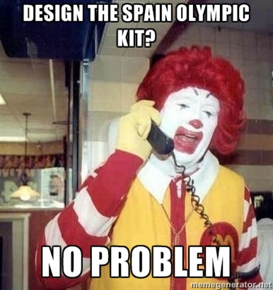 186 image 363980] spain's olympic uniform controversy know your meme