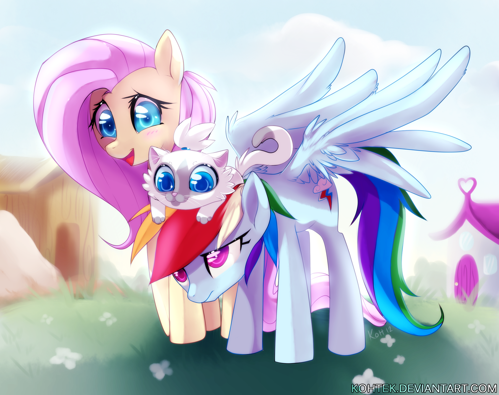 rainbow dash plays with rarity's pussy while fluttershy watches | my