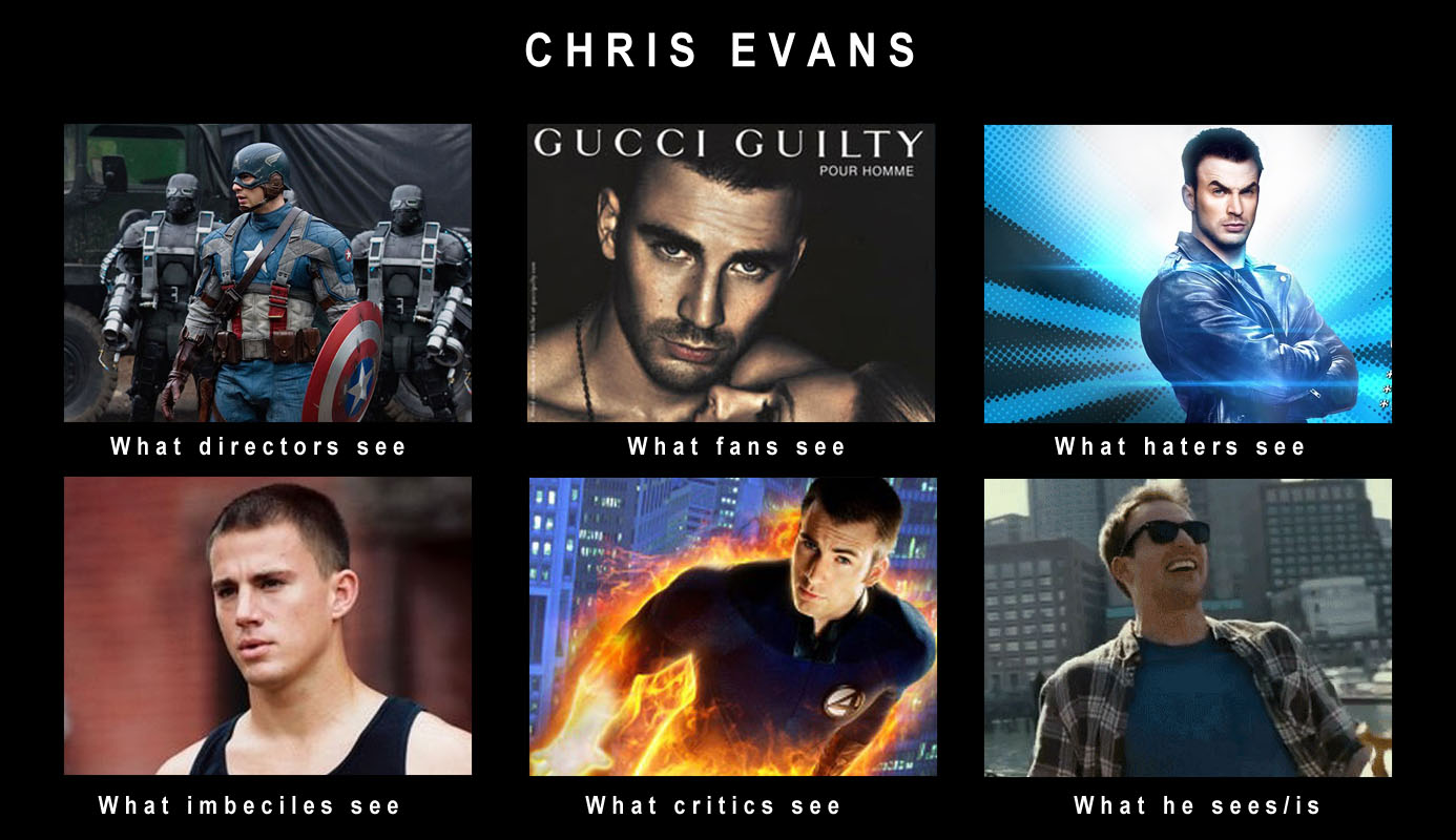 59f chris evans what people think i do what i really do know your meme