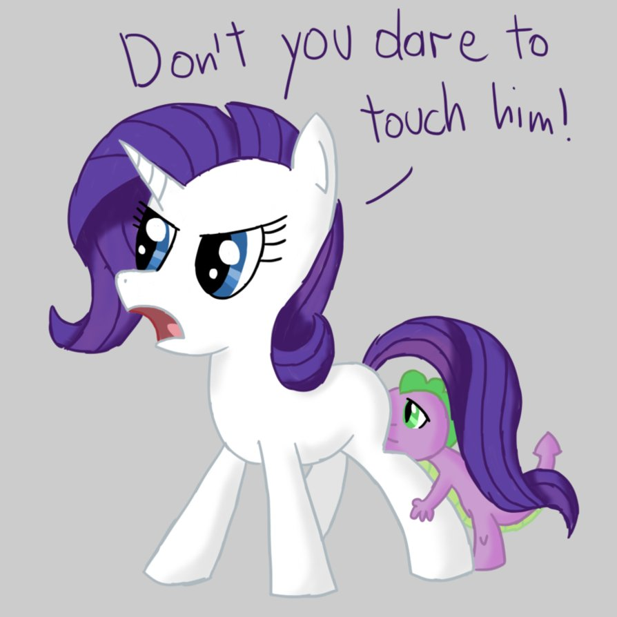 Filly Rarity And Baby Spike Less Than Three