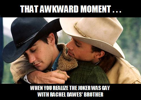 378 joker gay with rachel dawes' brother alternate batman know