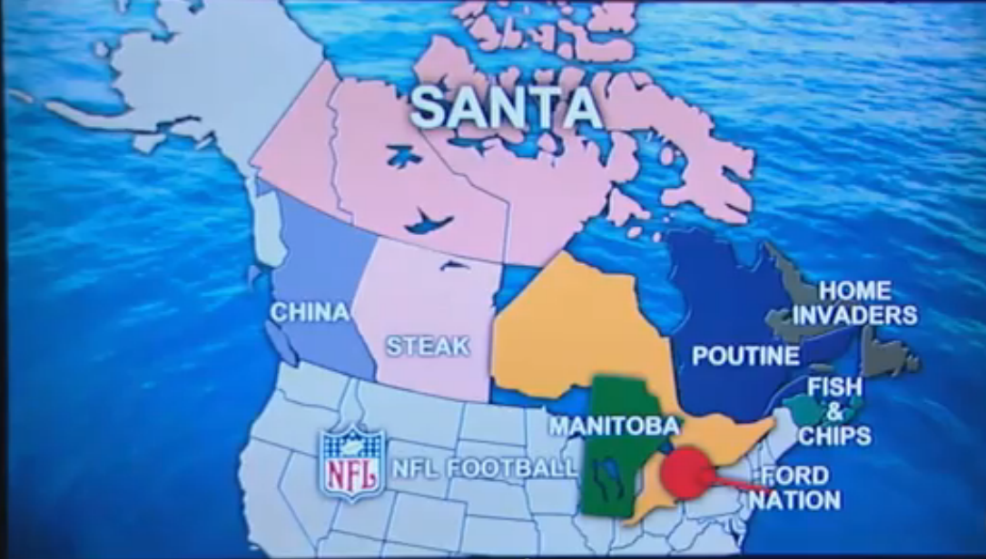 Canada According To Rob Ford The World According To Know - Map of us added to canada meme