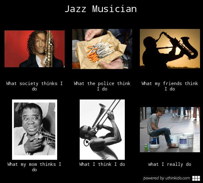 1b7 jazz musician what people think i do what i really do know