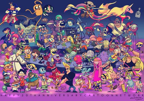 Cartoon Network 20th Birthday Calendar on Behance