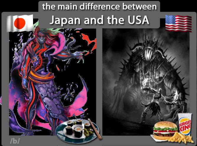 japan vs usa