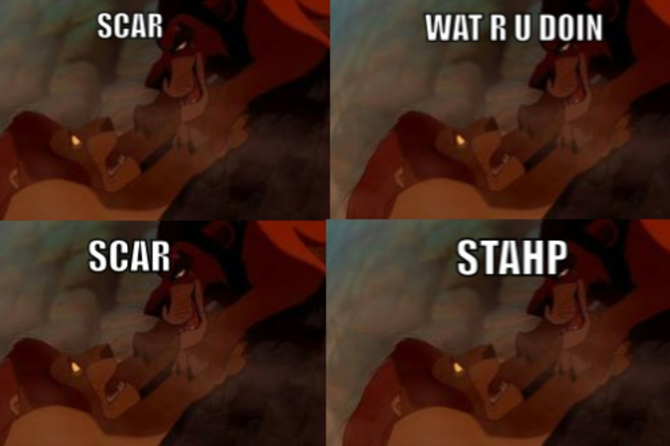 431 mufasa is butthurt stahp know your meme