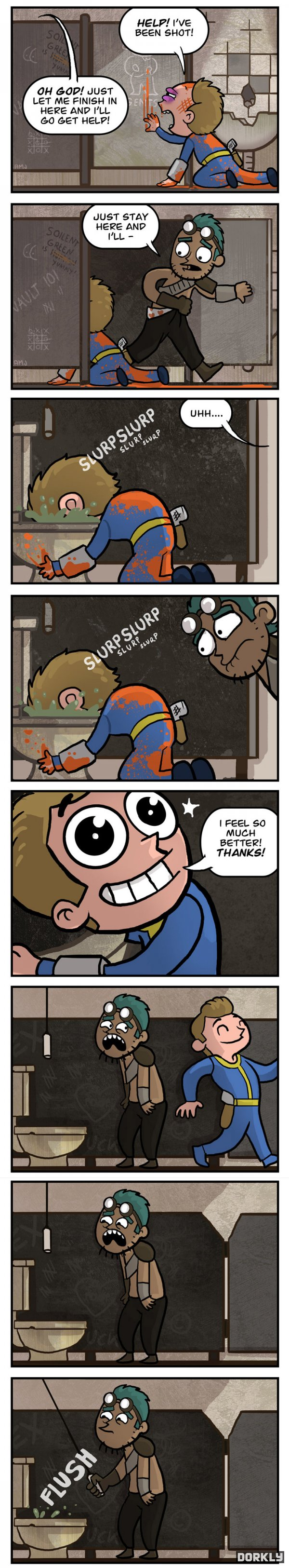 Fallout Bathroom Break Video Game Logic Know Your Meme