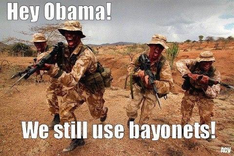 222 hey obama horses and bayonets know your meme,Bayonet Meme