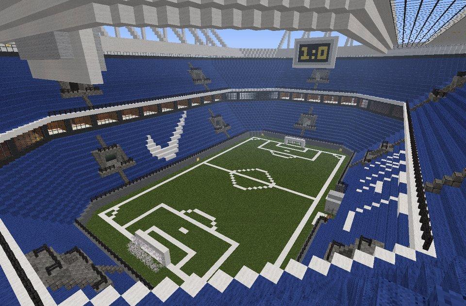 minecraft football stadiums