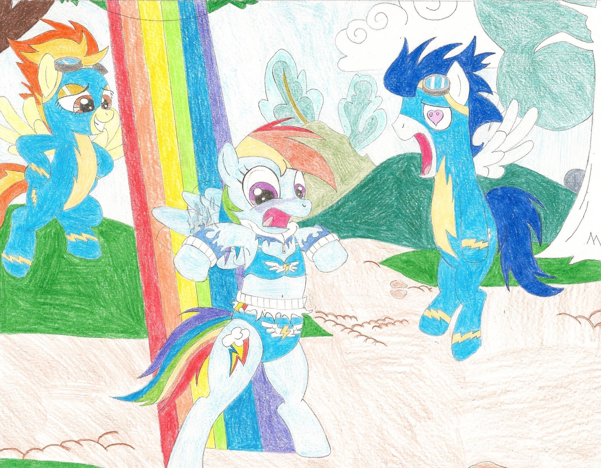 Dash's clothes burnt up | My Little Pony: Friendship is ... Rainbow Dash Wedgie