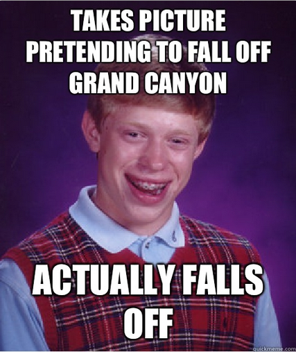 d19 bad luck brian fell mom was worried, i sent her this picture