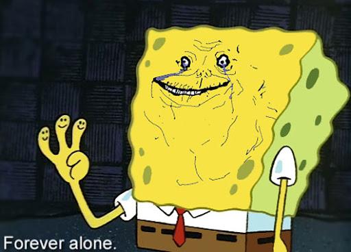 forever spongebob forever alone know your meme