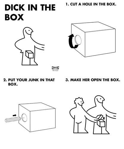 0c7 ikea instructions dick in a box know your meme,Ikea Instructions Meme