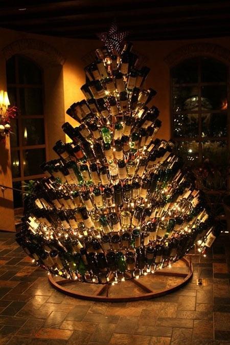 Christmas Tree Wine Bottles