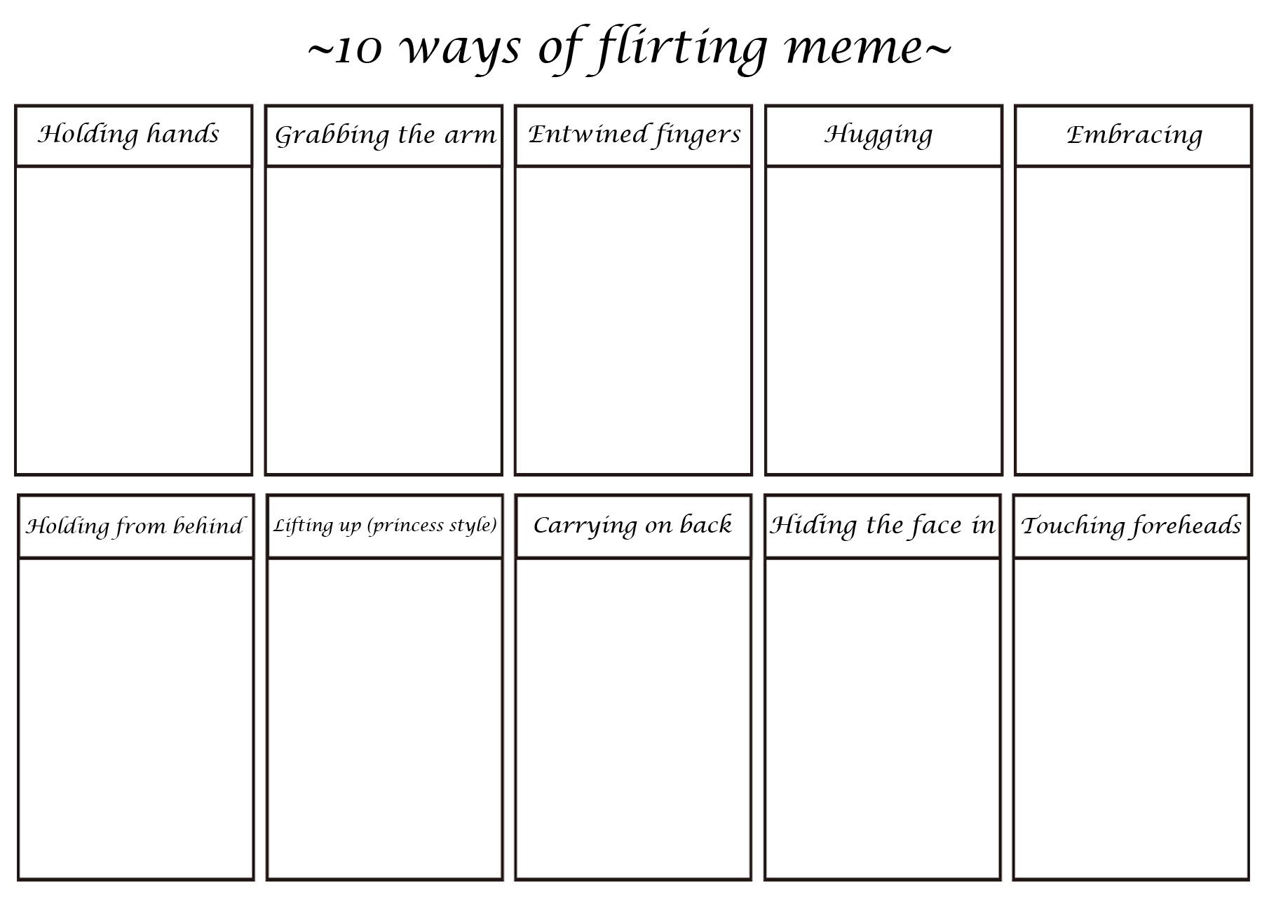 c2e 10 ways of flirting meme expression meme know your meme