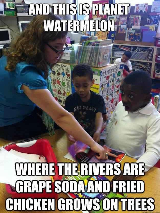pla  watermelon that s racist know your meme
