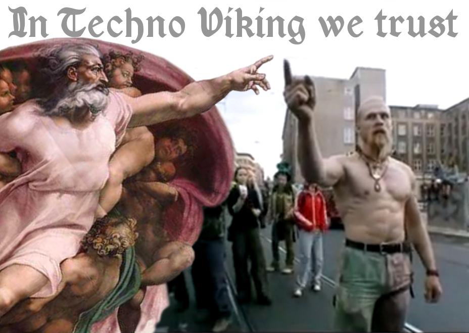 Techno viking, the true Nord! - 9GAG