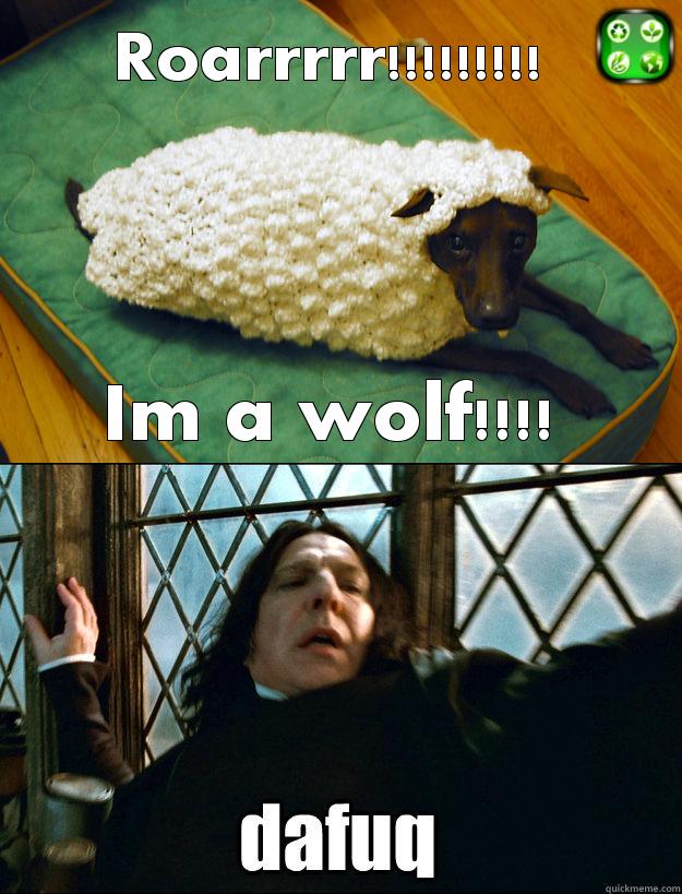 Roarr Im A Wolf | Dafuq | Know Your Meme
