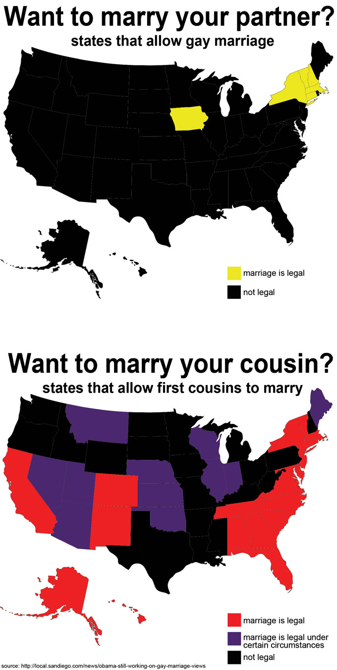 Gay marriage vs cousin marriage The Main Difference Between Europe