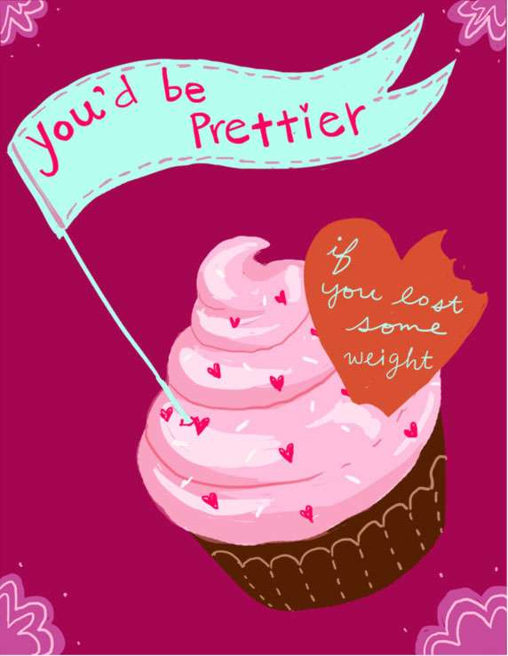 AntiValentines Day Card with Cupcake – Cupcake Valentine Card