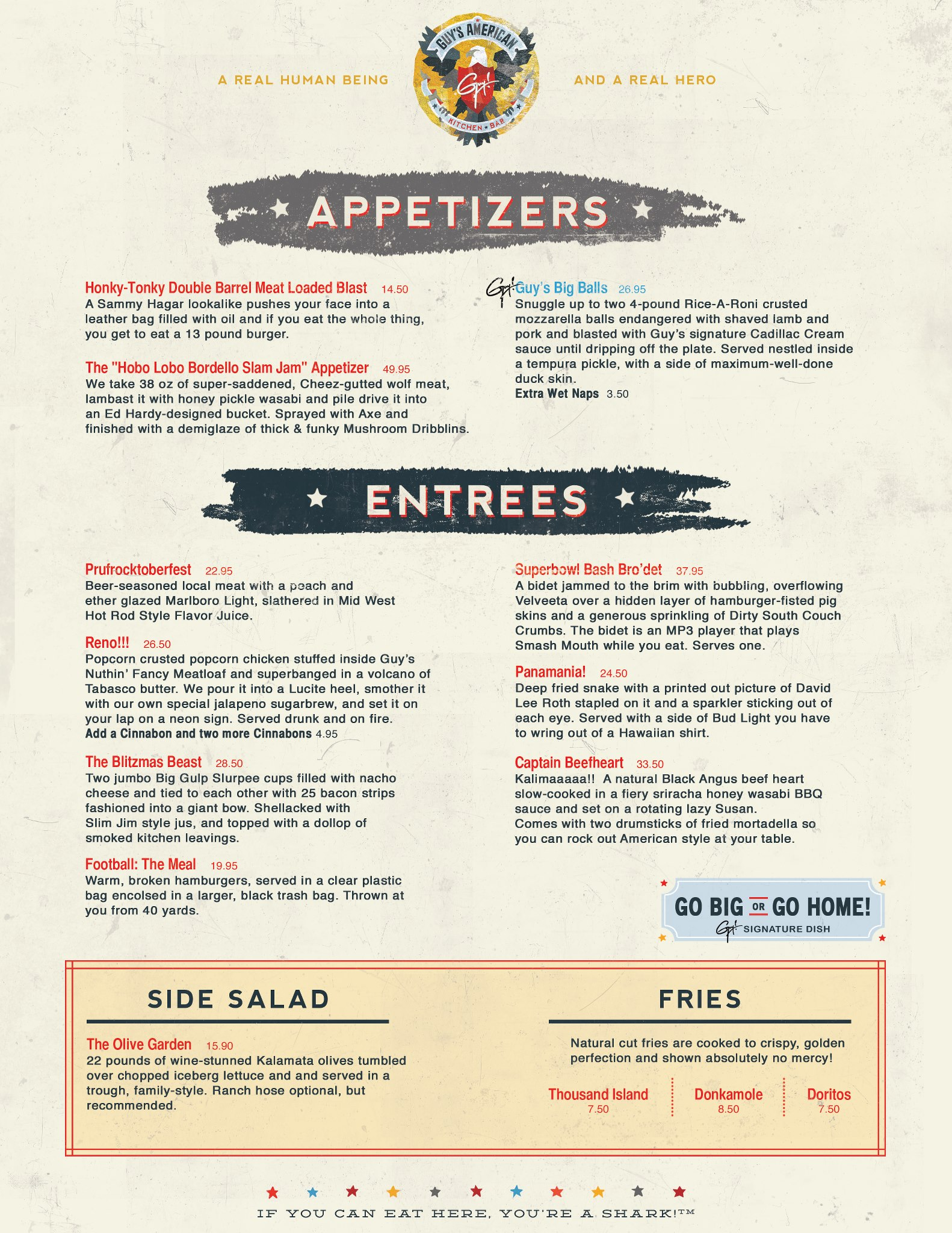 Guy\'s American Kitchen and Bar Spoof Menu | \'Murica | Know Your Meme
