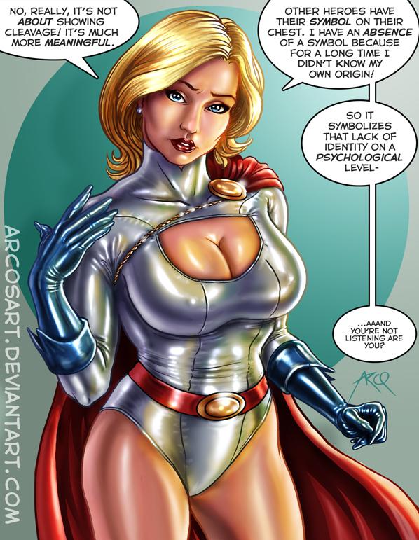Power girl boobs