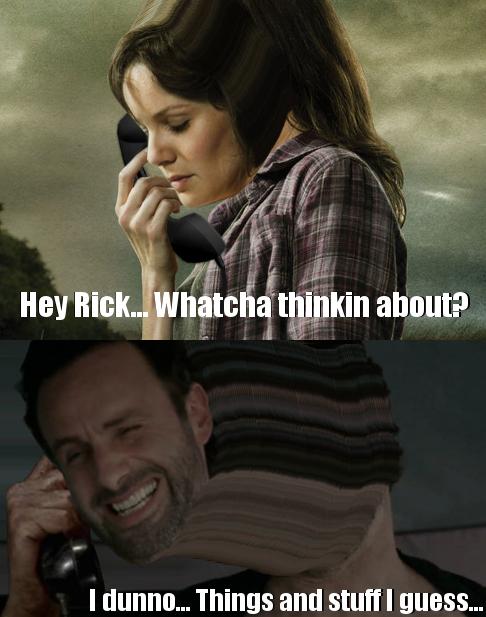 Rick grimes stuff and things meme