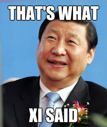 c48 that's what the president of china said that's what she said