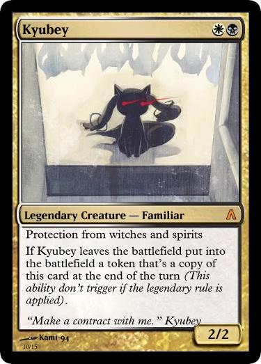 c86 kyubey mtg card fake ccg cards know your meme