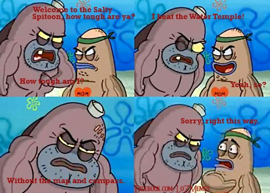 d5d zelda water temple welcome to the salty spitoon how tough are,Water Temple Meme