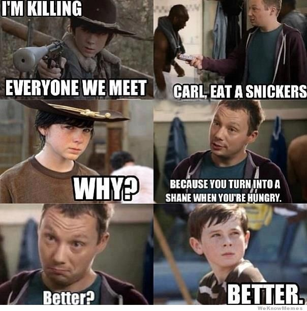 286 carl, eat a snickers snickers \