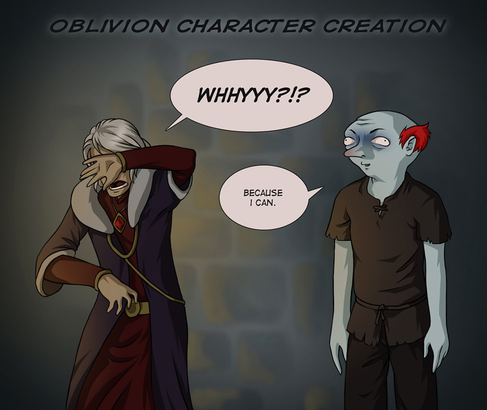 300 oblivion character creation video game logic know your meme