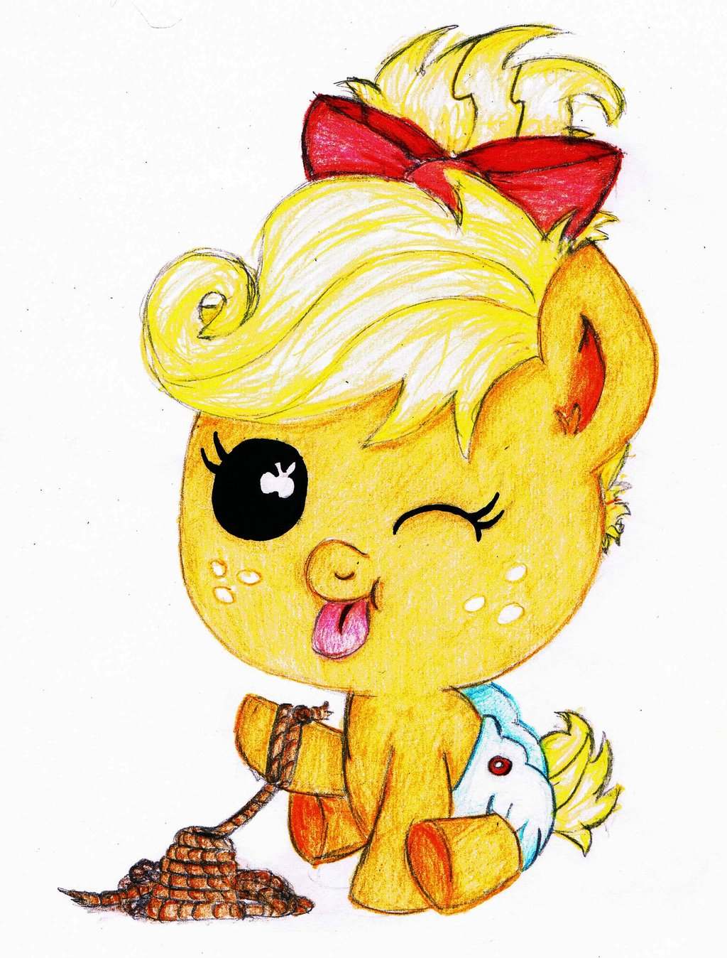 My little pony baby applejack - photo#24