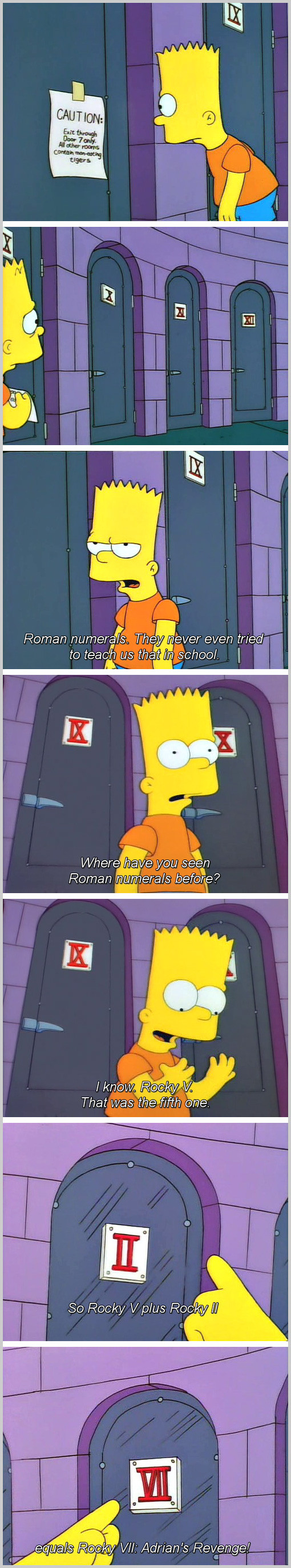 ba2 bart and roman numerals the simpsons know your meme