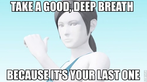 71b take a deep breath wii fit trainer know your meme