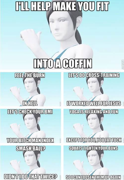 b82 evil trainer wii fit trainer know your meme