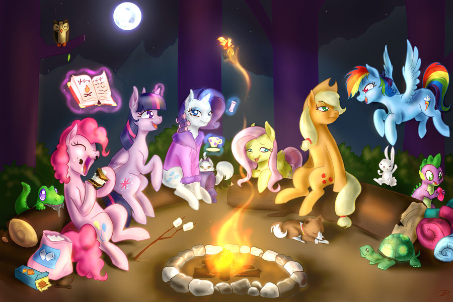 Campfire Party My Little Pony Friendship Is Magic
