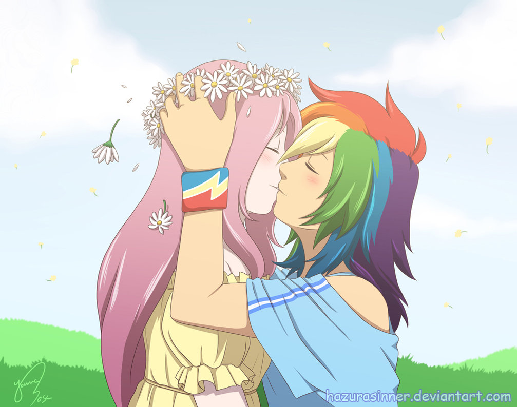 another rainbow dash-fluttershy lesbian thing | my little pony